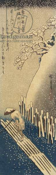 Snow Over The Sumida River, Winter, 1833-1834