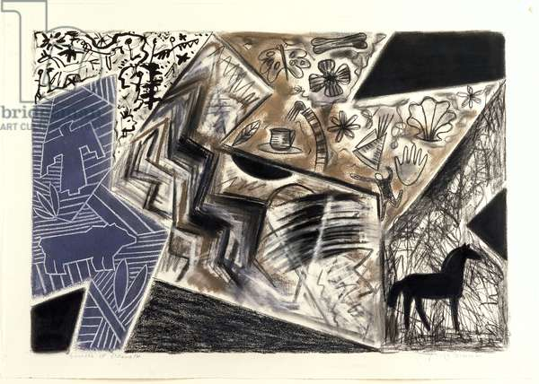 Sources of Strength, 1990 (pastel & ink on paper)
