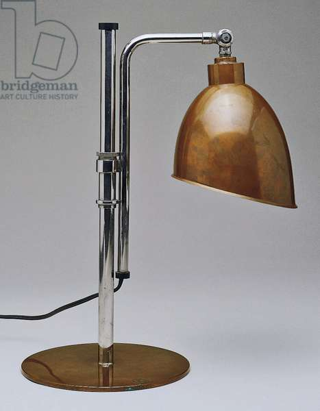 Table Lamp, 1928 (copper & chromium-plated metal)