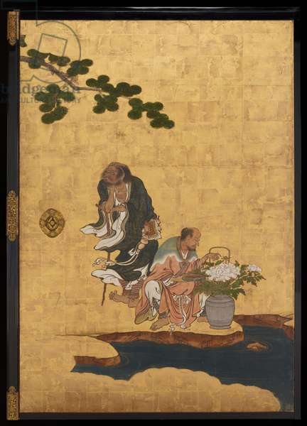 Taoist Immortals, c.1647 (ink, colours & gold on paper)