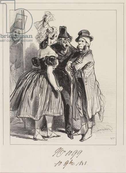 J'vous dis que vot' femme a insulté la mienne, m'sieu!, 1838