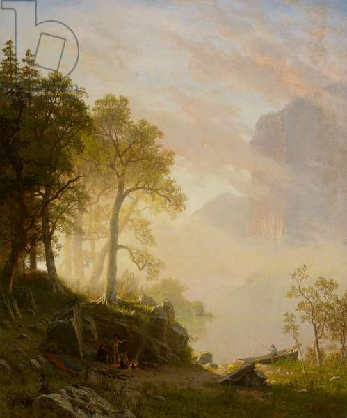 The Merced River in Yosemite, 1868 (oil on canvas)