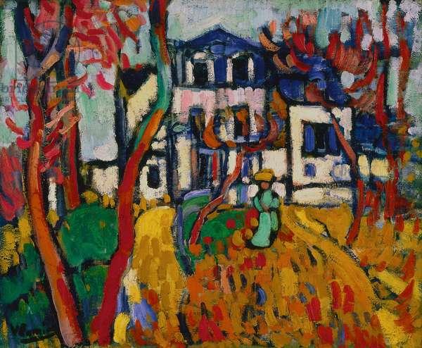The Blue House, 1906 (oil on canvas)