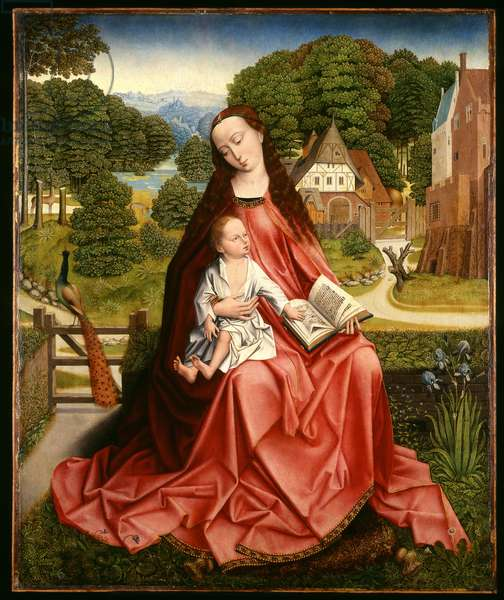 Virgin and Child in a Landscape, c.1492-98 (oil on panel)
