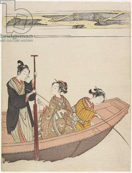 Fishing Near Mimeguri Shrine on the Sumida River, c. 1767
