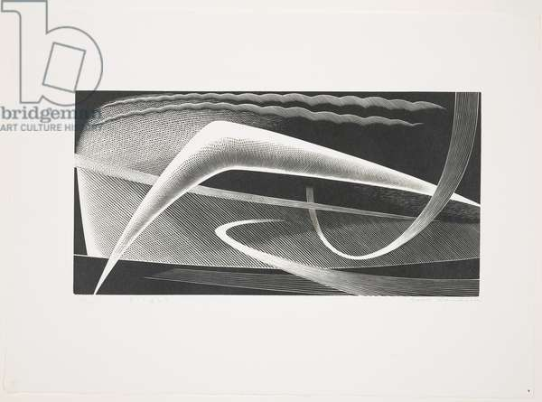 Flight, 1954 (wood engraving)
