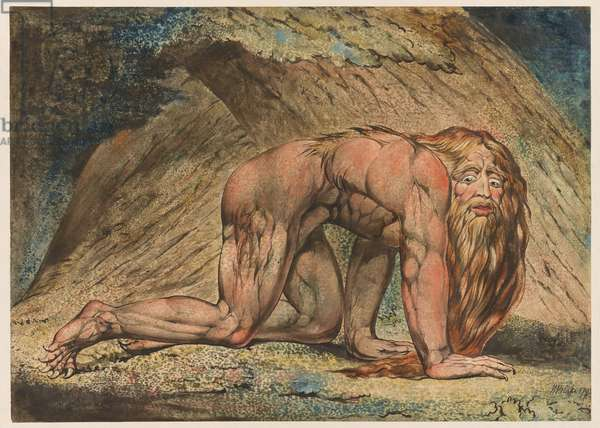 Nebuchadnezzar, 1795 (tempera, pen & ink and w/c on paper)