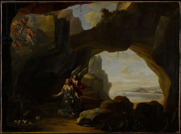 The Magdalen in a Cave, c.1650 (oil on canvas)