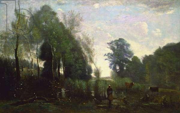 Misty Morning, c.1865 (oil on canvas)