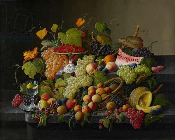 Abundant Fruit, 1858 (oil on canvas)