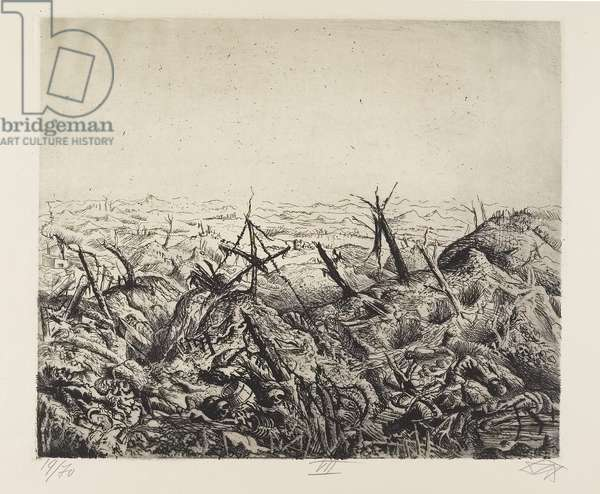 Bei Langemarck (Februar 1918) (Near Langemarck [February 1918]), plate 7 from Der Krieg (The War), 1924