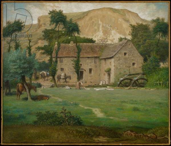 The Farm House, c.1867-69 (pastel on wove paper, laid down on board)