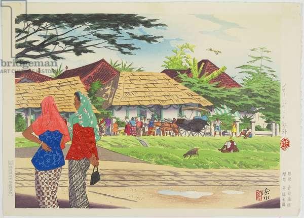 Outskirts of Jakarta in Java, 1943