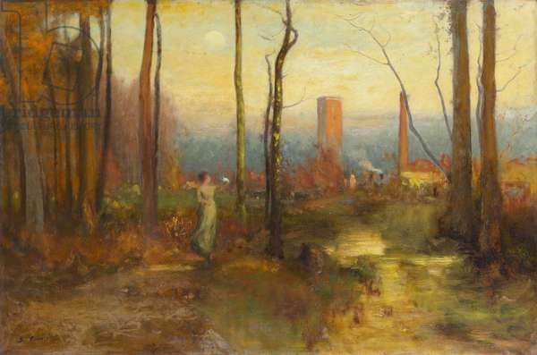 The Mill Stream, Montclair, New Jersey, c.1888 (oil on canvas)