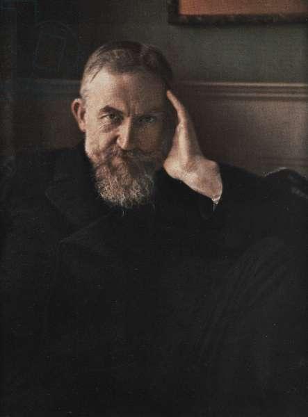 George Bernard Shaw, 1908 (colour halftone print)