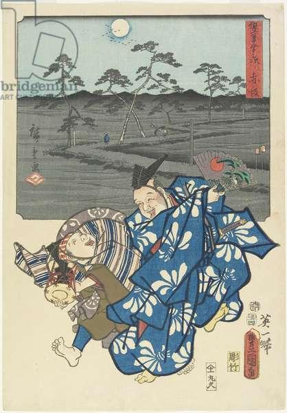 Akasaka, April 1855