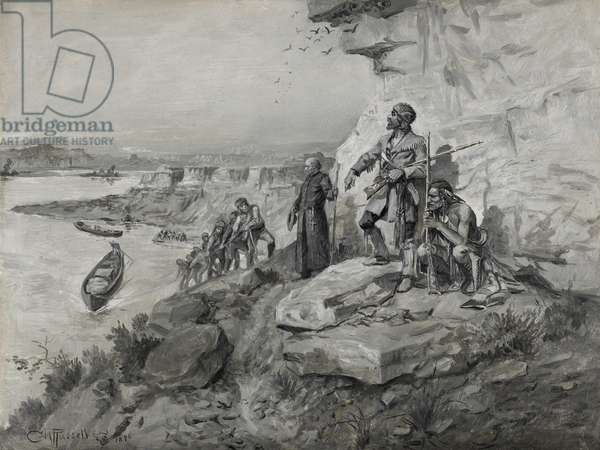 Voyageurs, 1898 (oil on board)