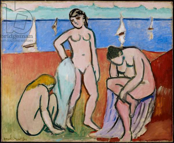 Three Bathers, 1907 (oil on canvas)