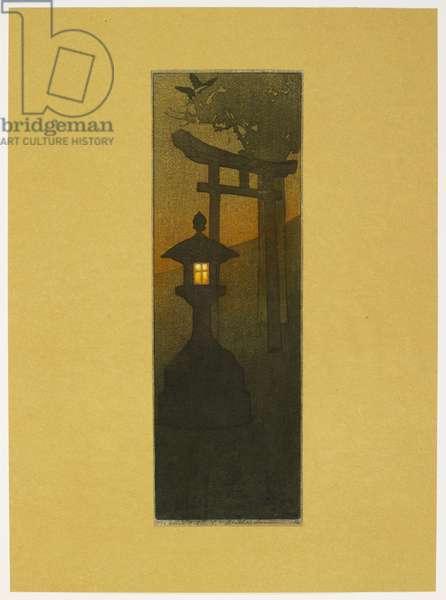 Evening, 1907 (colour woodcut)