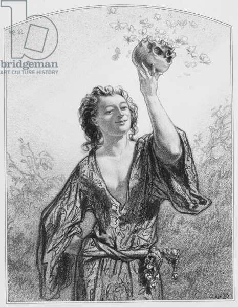 """Toqués, toqués, Plate 1 from """"Les Toquades"""", 1858"""