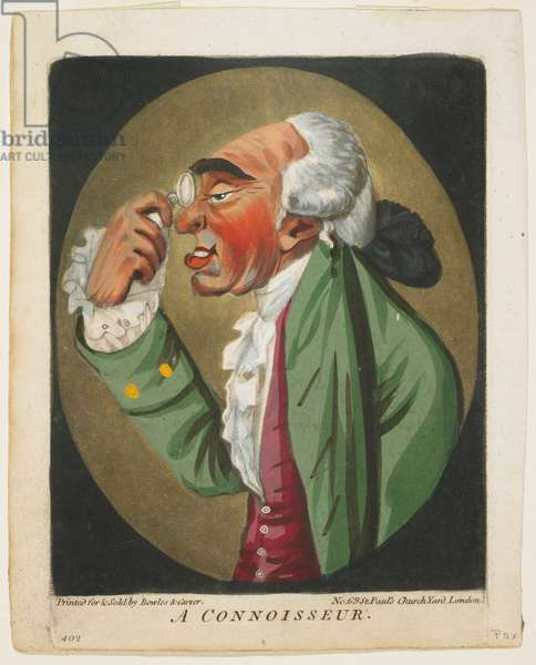 A Connoisseur, from A Book of Heads, 1795