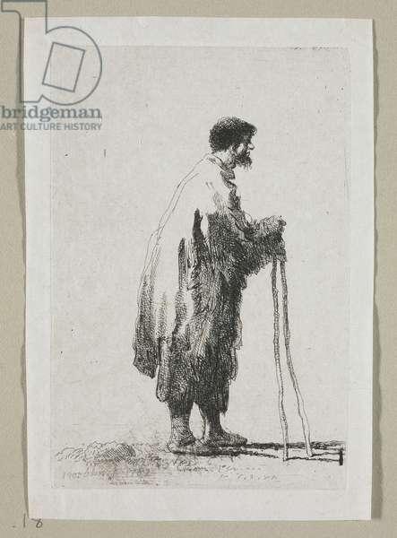 Beggar in Profile Facing Right, 1787