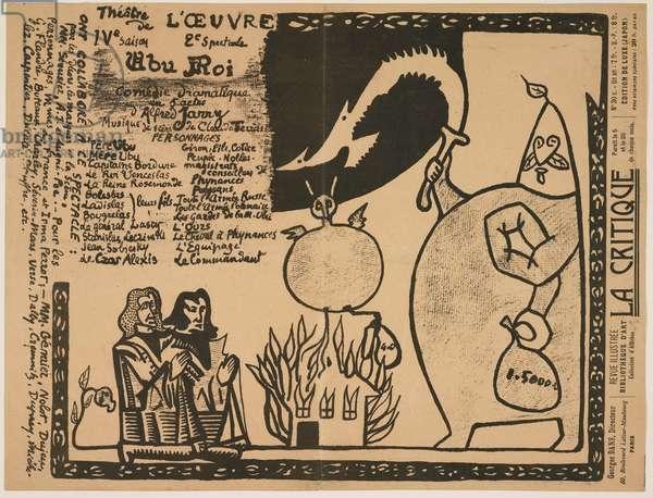 "Program for ""Ubu Roi"", 1896"