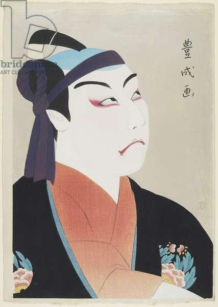 Actor Matsumoto Kōshirō VII as Sukeroku, 1920 (colour woodblock print)