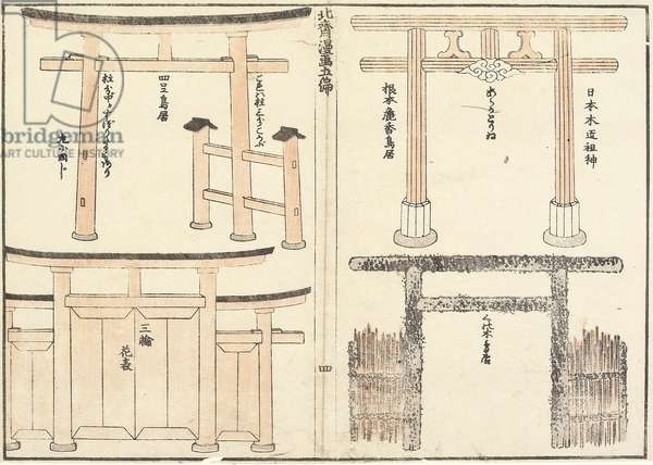 Various Types of Torii Arch, 1816