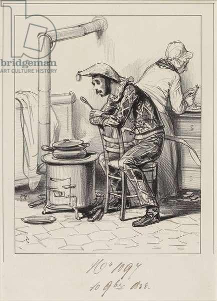 Avancez-moi, donc cent sous m'man. . ., 1838