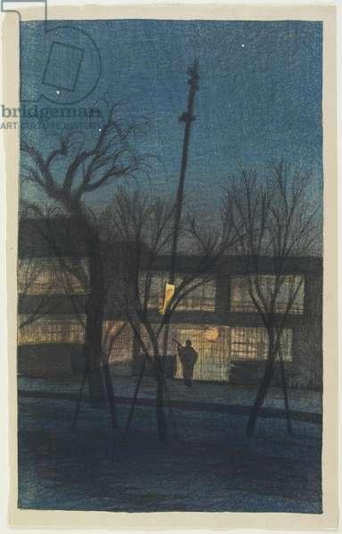 Ikenohata at Night, January 1921