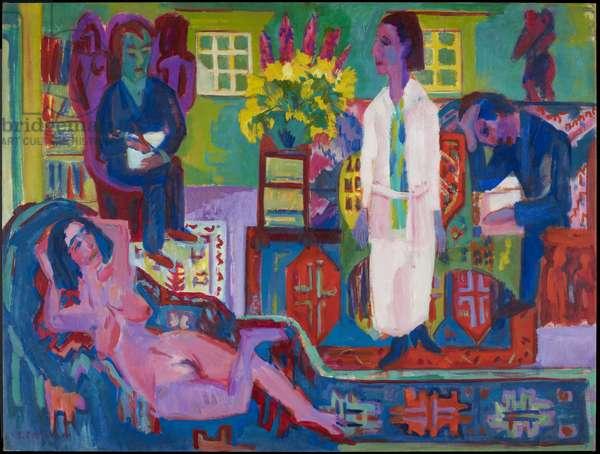 Modern Bohemia, 1924 (oil on canvas)