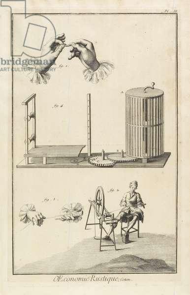 Glazing and Warping (Plate III), 1762