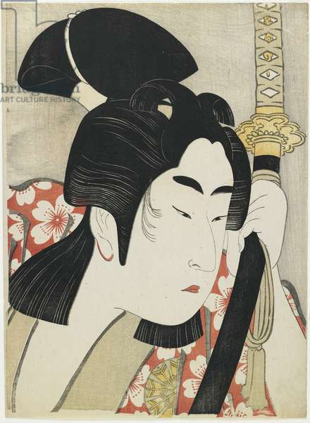 Nakamura Noshio II as Sakuramaru, 1796 (colour woodblock print)