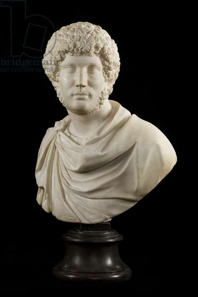 Bust of Emperor Hadrian as a Young Man, c.1590 (marble)
