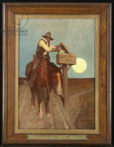 Rural Delivery (Where the Mail Goes, 'Cream of Wheat' Goes), 1906 (oil on canvas)