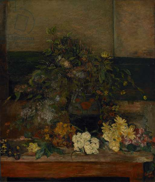 Meadow Flowers, 1883 (oil on canvas mounted on panel)