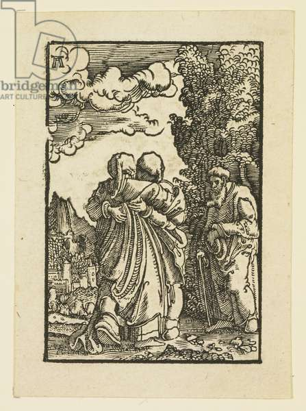 The Visitation of the Virgin to Elizabeth (woodcut)