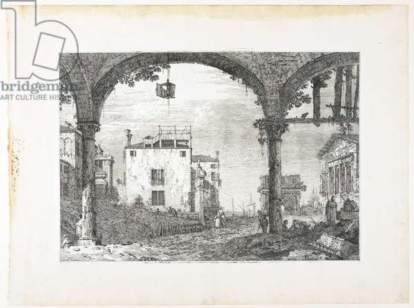"""La Portique à la Lanterne, plate from """"Vedute, altre presse da i loughi, altre ideate"""", 1740-1745"""