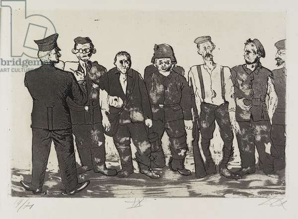 Appell der Zurückgekehrten (Roll Call of the Survivors), plate 49 from Der Krieg (The War), 1924