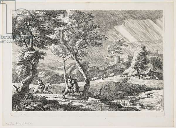Plate VII, from a set of landscapes, 1743 (etching)