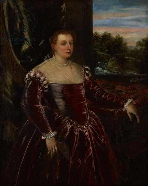 Portrait of Dogaressa Morosina Morosini, 1570-80 (oil on canvas)