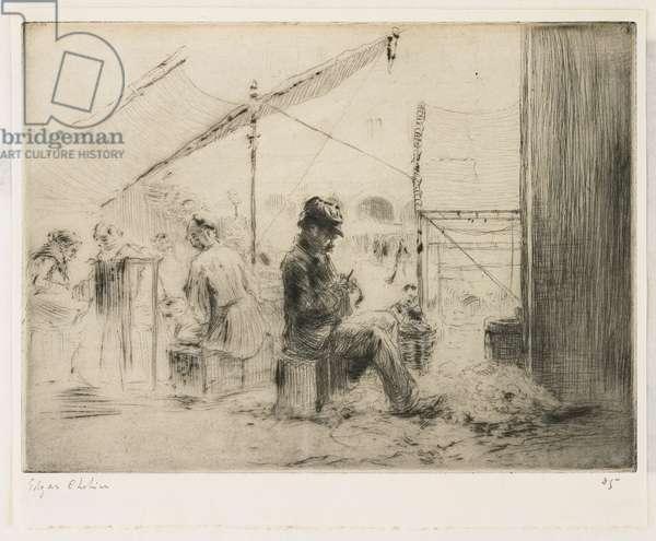 L'éplucheur d'artichauts; Rialto, Venise, 1906
