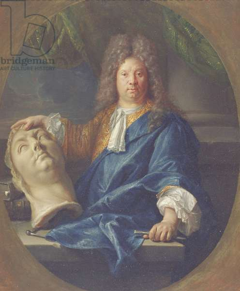 Portrait of Antoine Coysevox, 1701 (oil on canvas)
