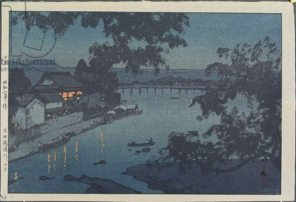 Evening on the Chikugo River in Hita, 1927