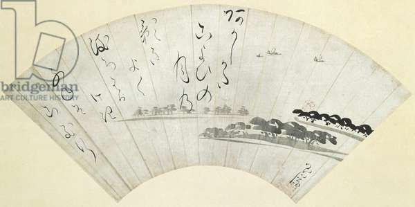 Akashi Bay, late 18th century (ink on paper sized with mica)