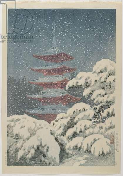 Five-storied Pagoda at the Nikko_ Shrine, c. 1930-1940