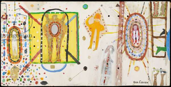Popolus, 1953 (oil, gold leaf & glass on masonite)