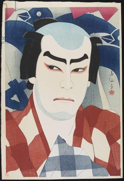 Actor Jitsukawa Enjaku II as Danshichi, 1926 (colour woodblock print)