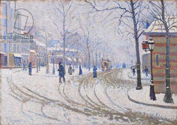 Snow, Boulevard de Clichy, Paris, 1886 (oil on canvas)